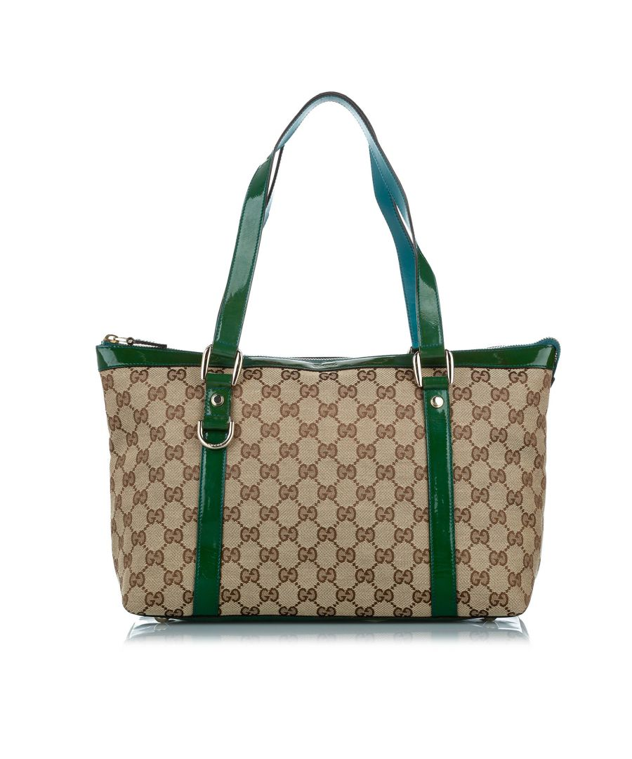 Image for Vintage Gucci GG Canvas Abbey Tote Bag Brown