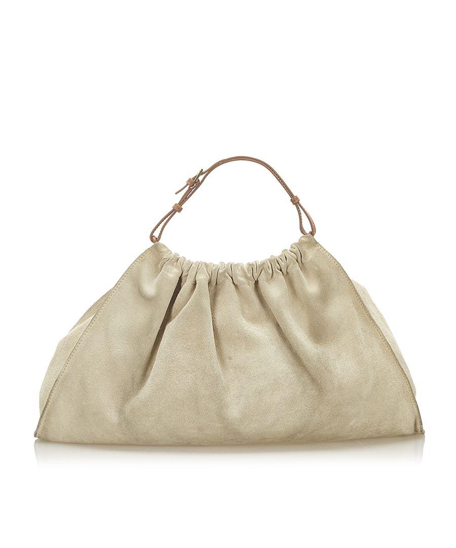Image for Vintage Gucci Suede Handbag Brown