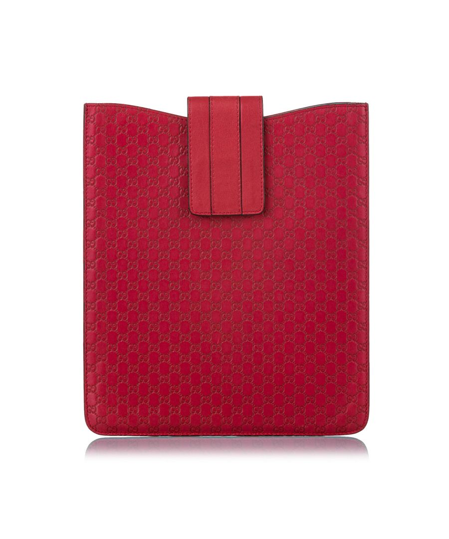 Image for Vintage Gucci Microguccissima Leather Tablet Case Red