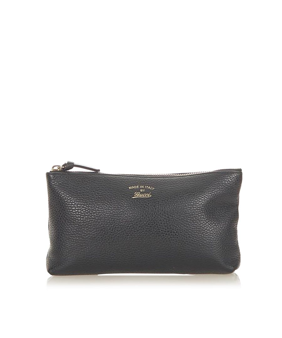 Image for Vintage Gucci Leather Pouch Black