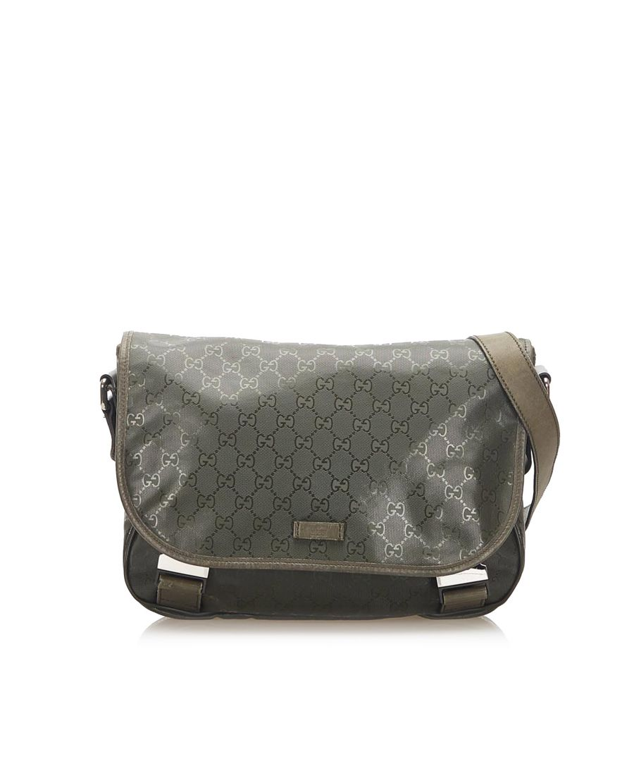 Image for Vintage Gucci GG Imprime Crossbody Green