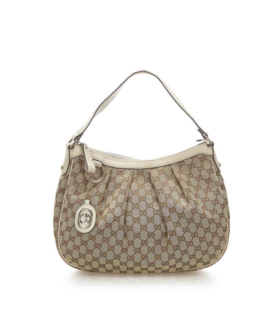 Image for Vintage Gucci GG Canvas Sukey Shoulder Bag Brown