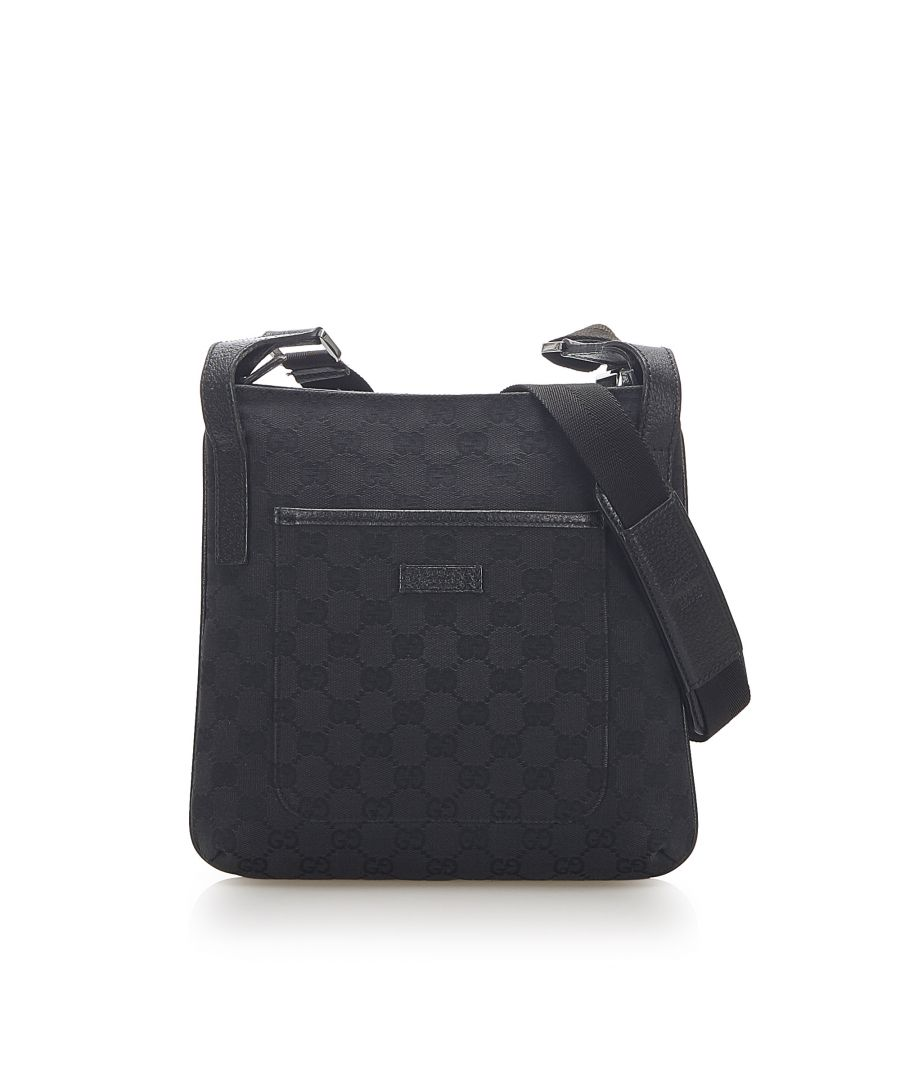 Image for Vintage Gucci GG Canvas Crossbody Bag Black