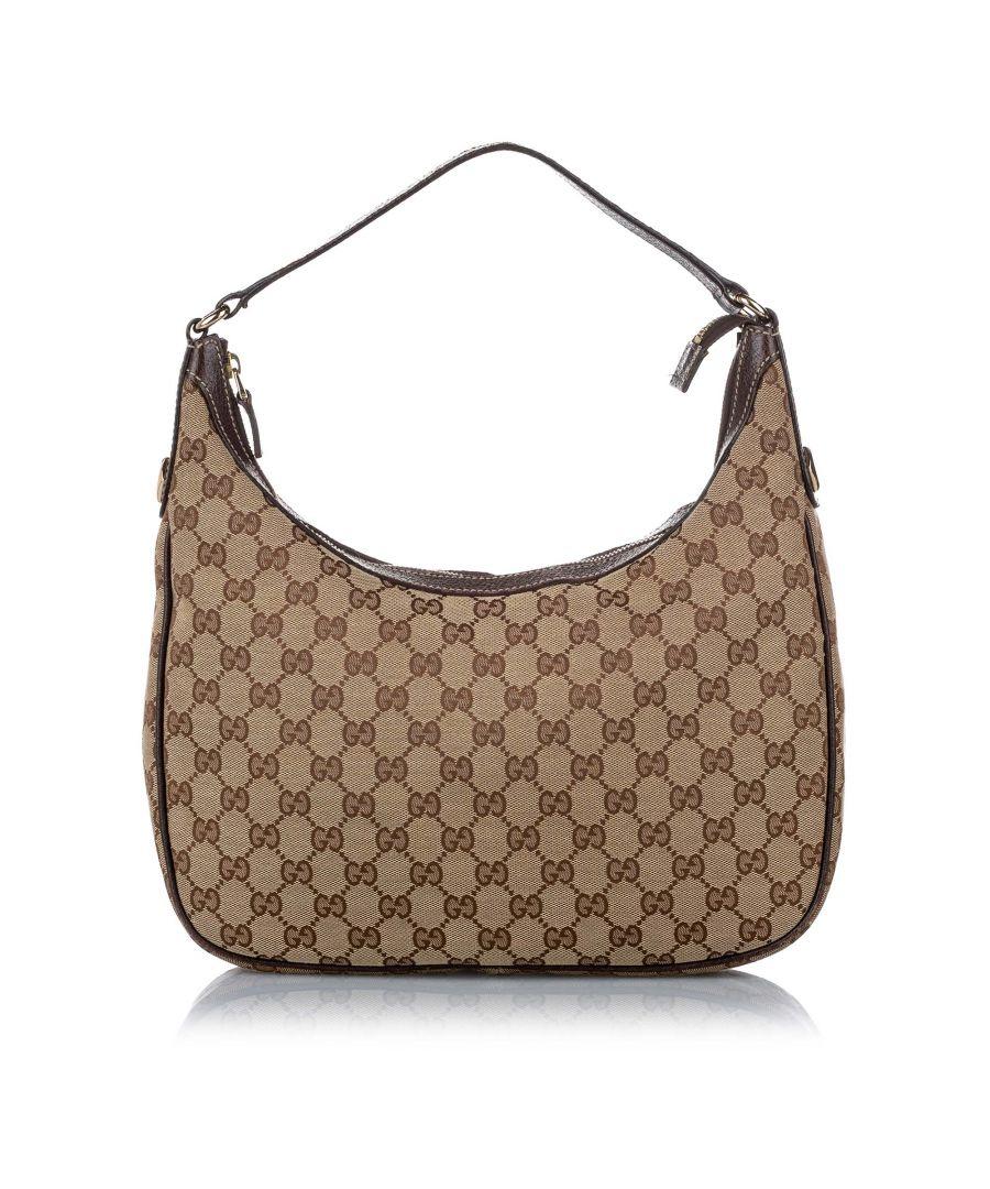 Image for Vintage Gucci GG Canvas Shoulder Bag Brown