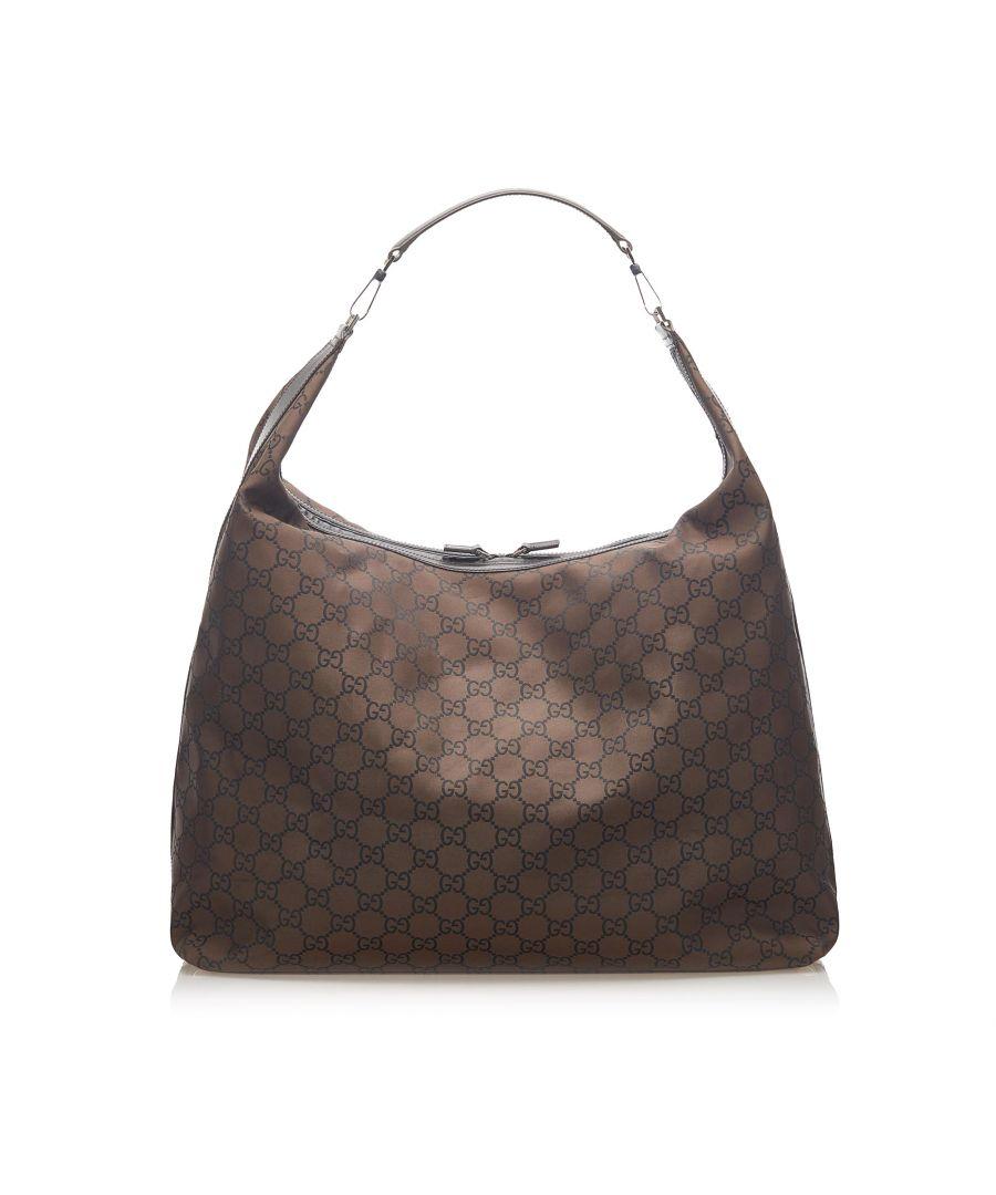 Image for Vintage Gucci GG Nylon Travel Bag Brown