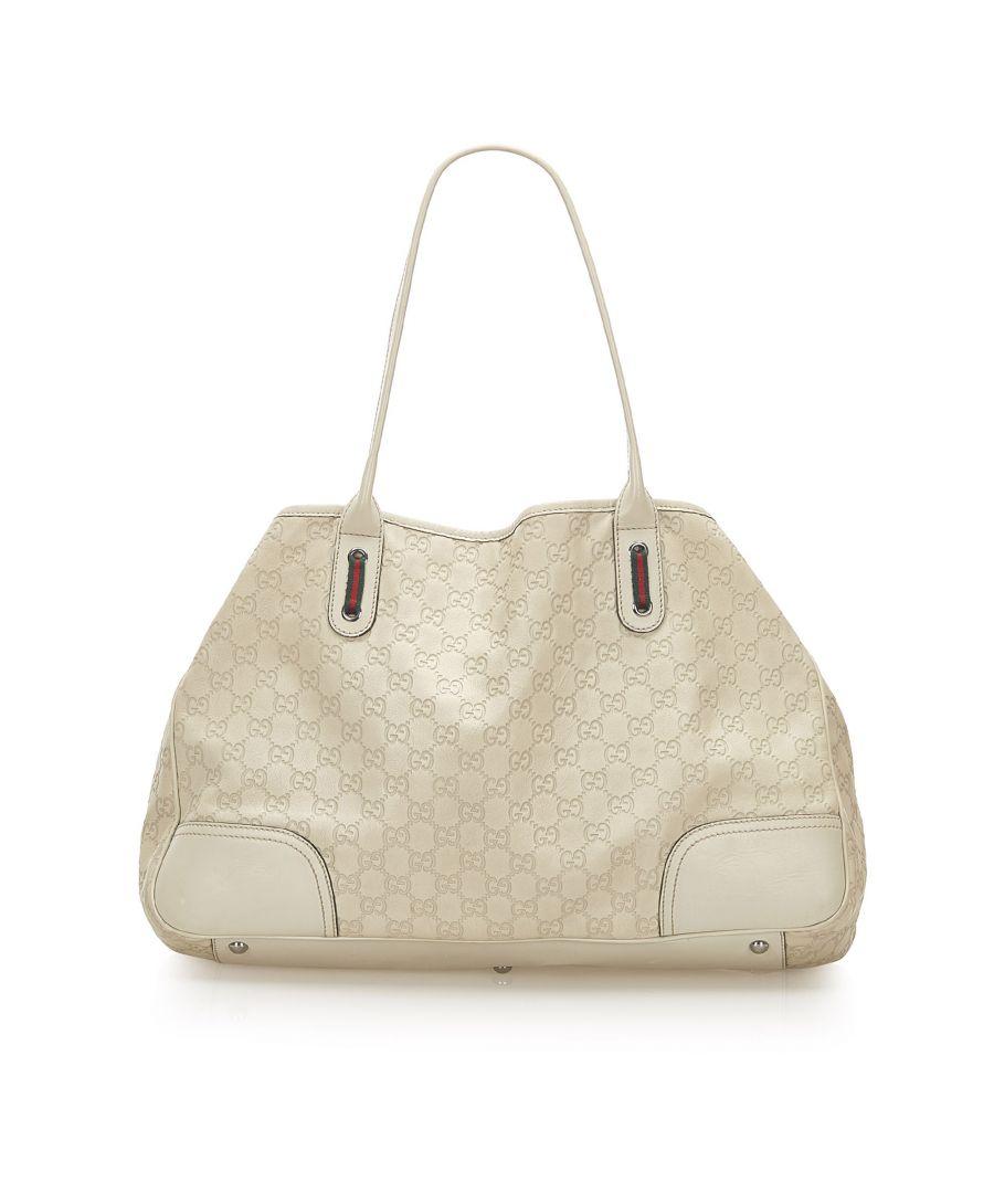 Image for Vintage Gucci Guccissima Princy Tote Bag White