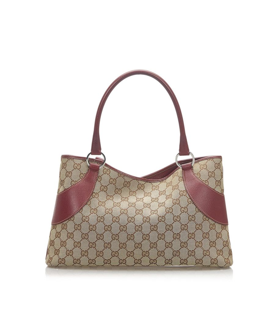 Image for Vintage Gucci GG Canvas Tote Bag Brown