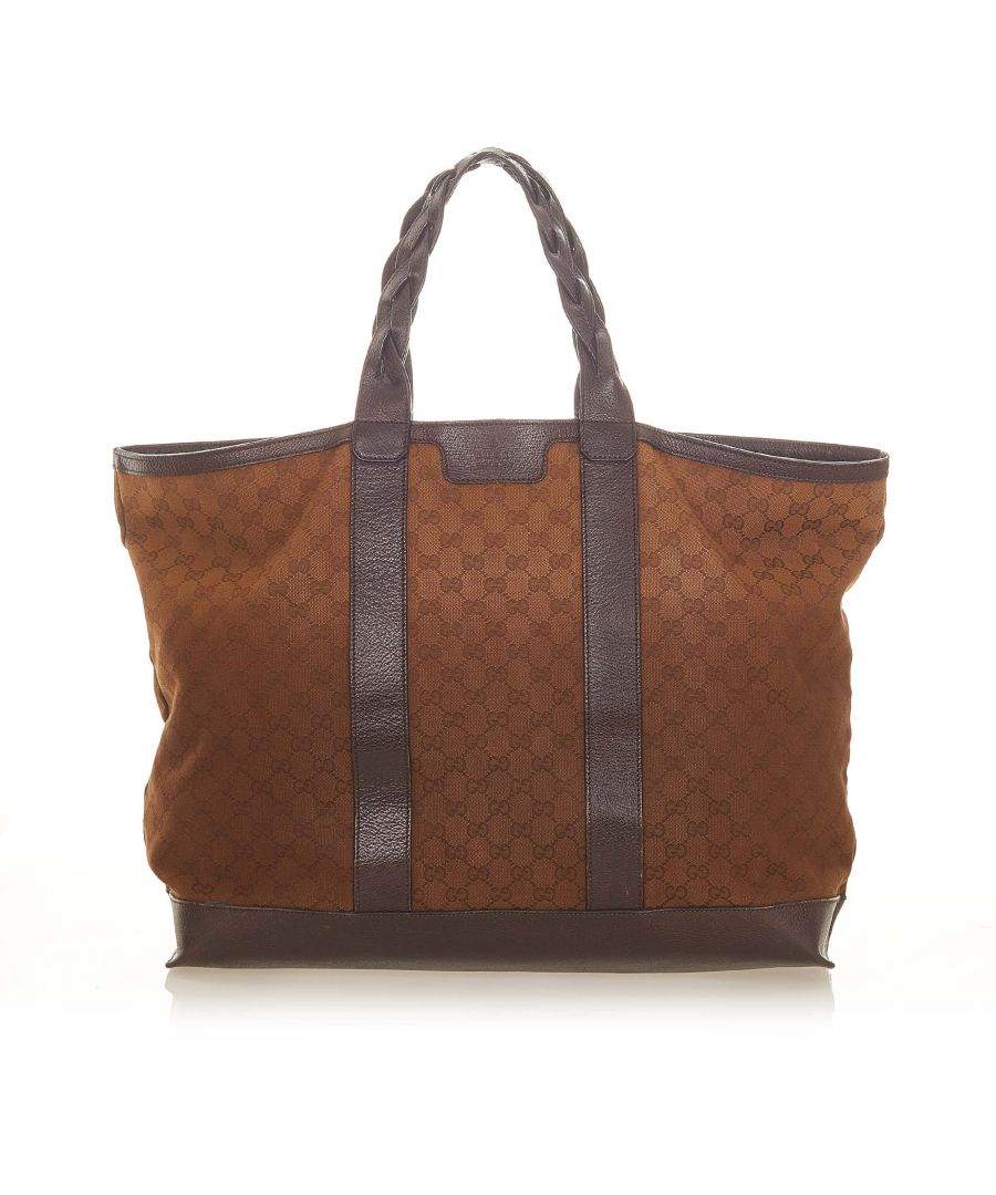 Image for Vintage Gucci GG Canvas Duffle Bag Brown