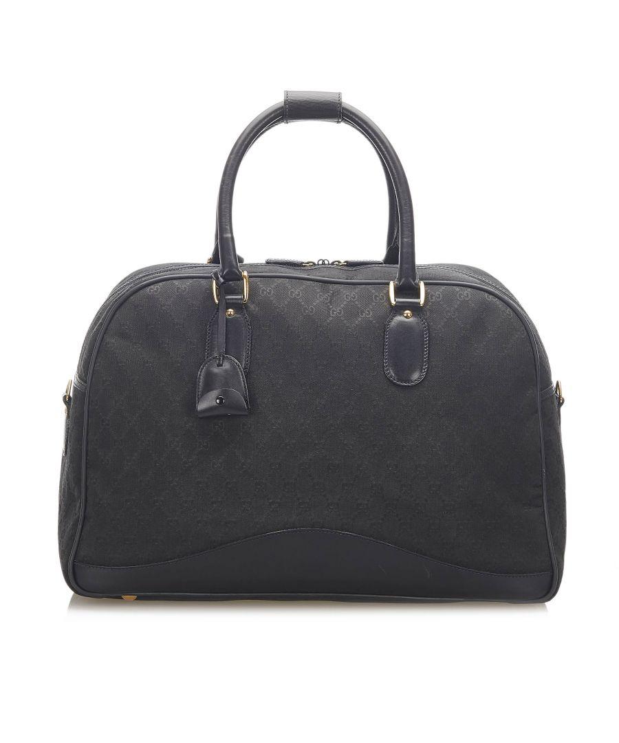 Image for Vintage Gucci GG Canvas Travel Bag Black