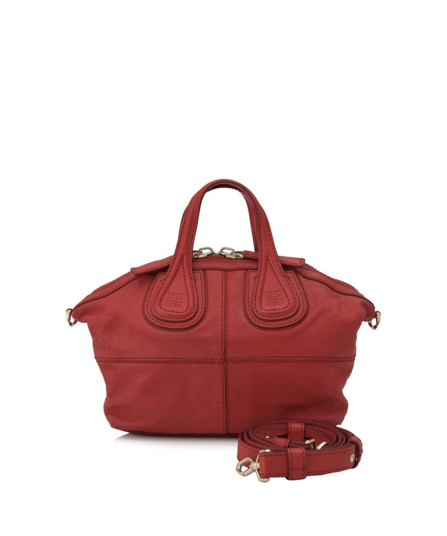 Image for Vintage Givenchy Micro Nightingale Leather Satchel Red