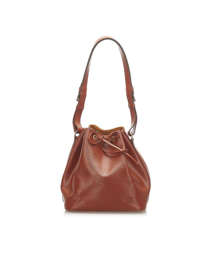 Image for Vintage Louis Vuitton Epi Petit Noe Brown