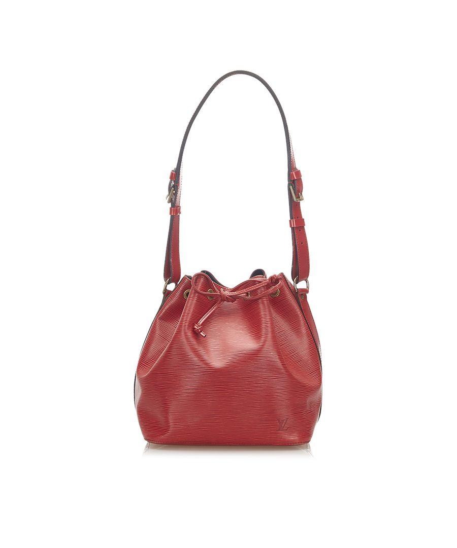 Image for Vintage Louis Vuitton Epi Petit Noe Red