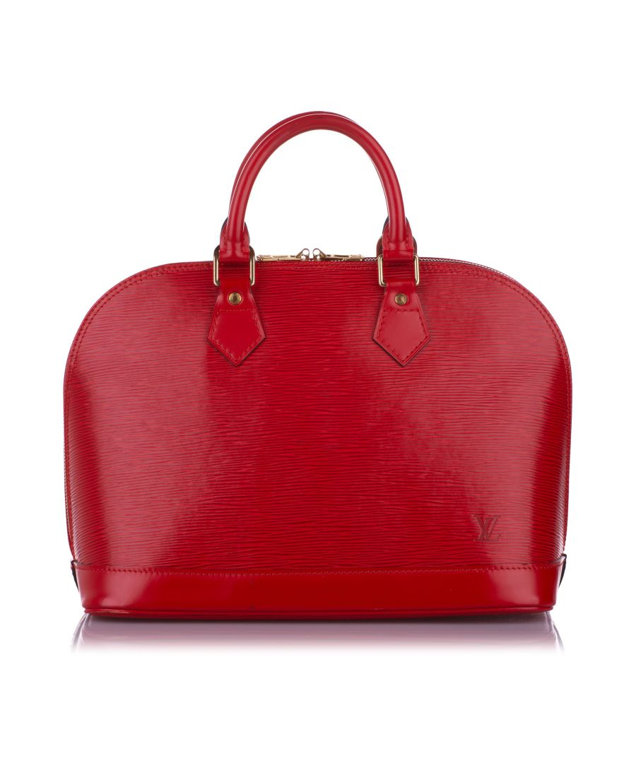 Image for Vintage Louis Vuitton Epi Alma PM Red