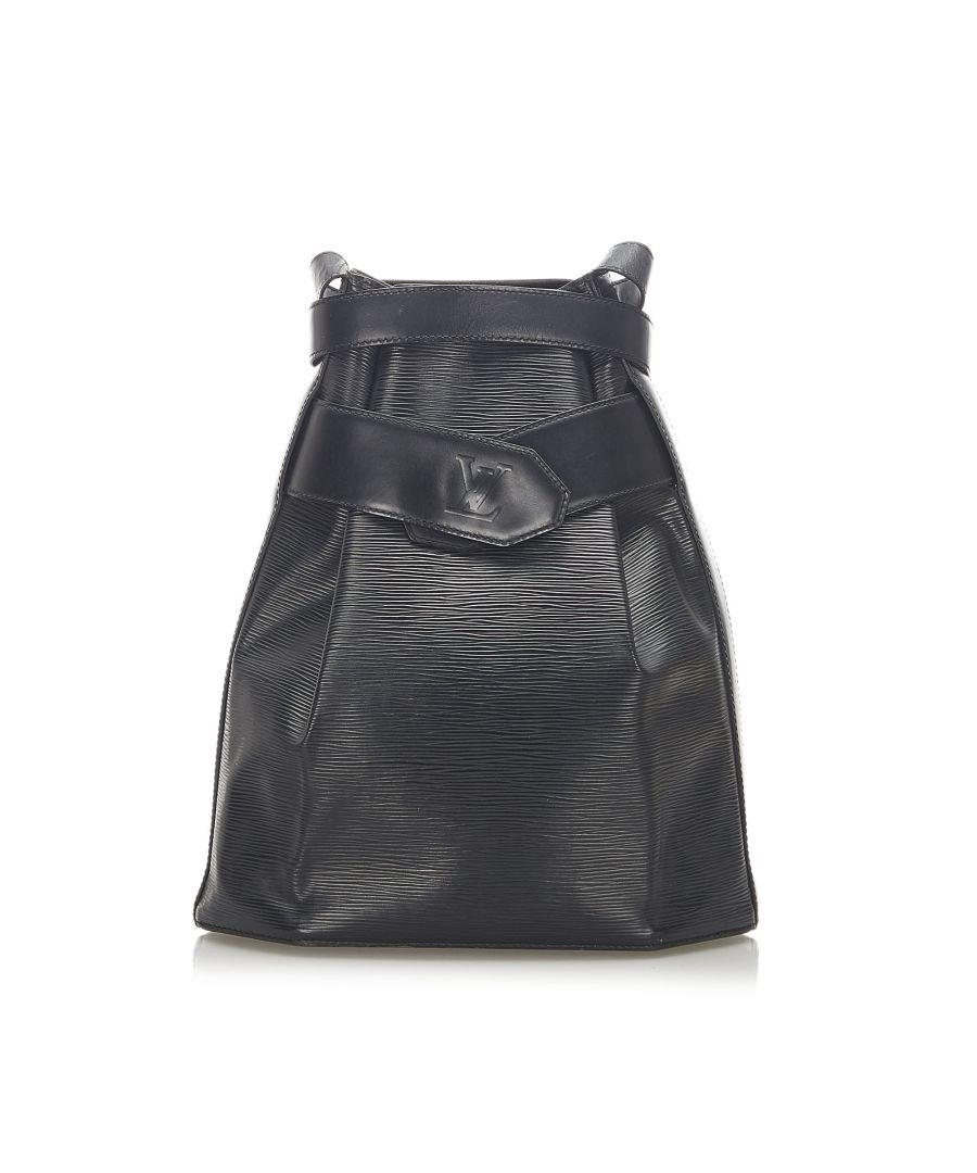 Image for Vintage Louis Vuitton Epi Sac dEpaule Black