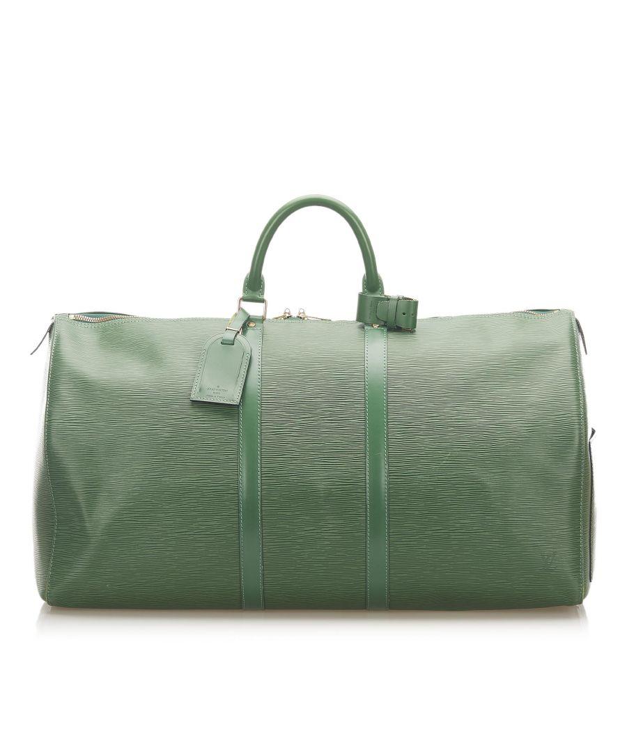 Image for Vintage Louis Vuitton Epi Keepall 45 Green