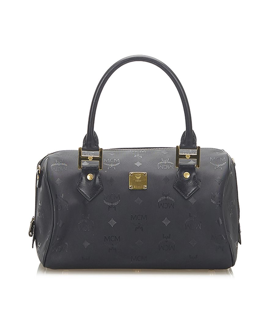 Image for Vintage MCM Visetos Boston Bag Black