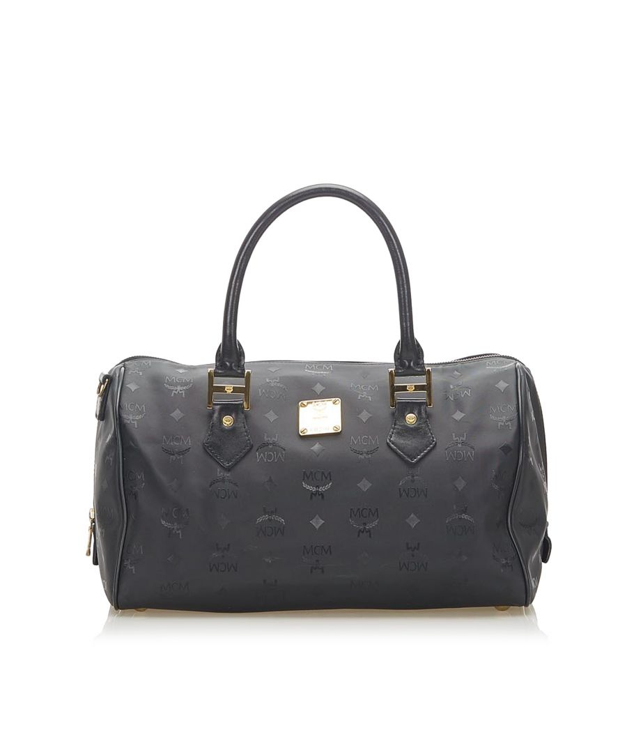 Image for Vintage MCM Visetos Nylon Boston Bag Black