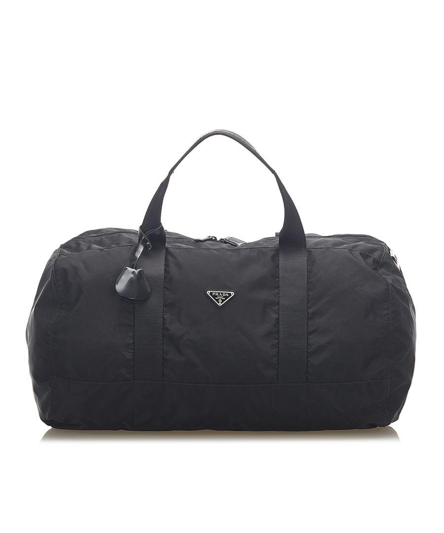 Image for Vintage Prada Tessuto Travel Bag Black