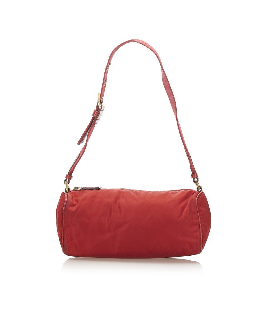 Image for Vintage Prada Tessuto Shoulder Bag Red