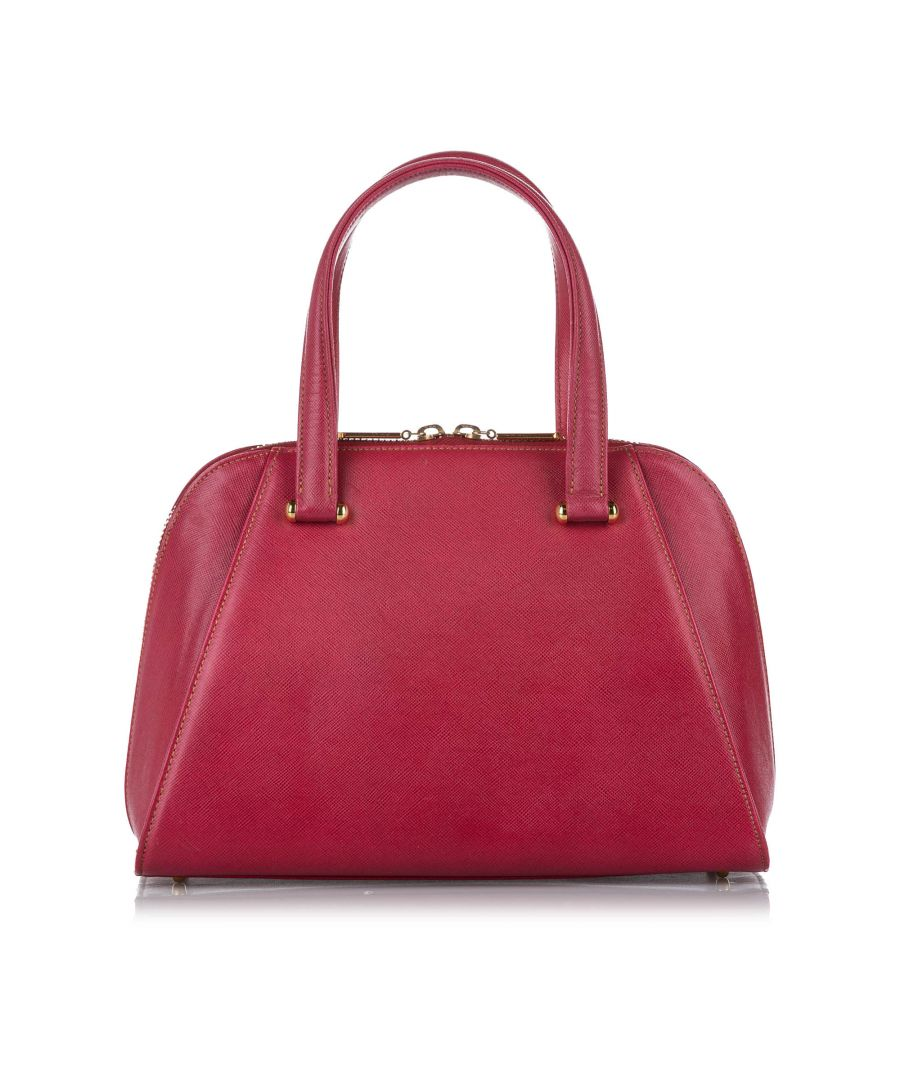Image for Vintage Valentino Leather Satchel Red