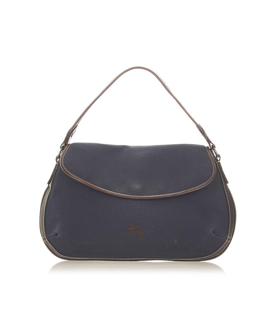 Image for Vintage Burberry Canvas Hobo Bag Blue