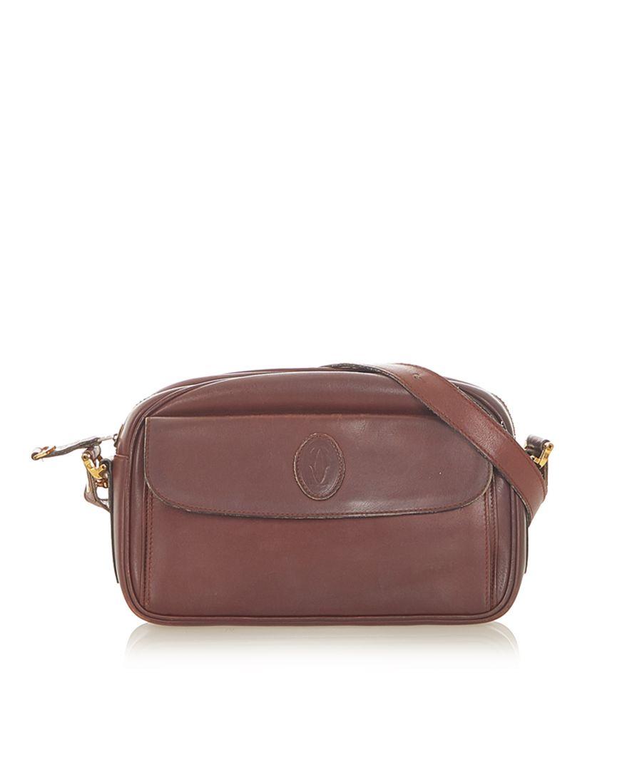 Image for Vintage Cartier Must de Cartier Leather Crossbody Bag Red