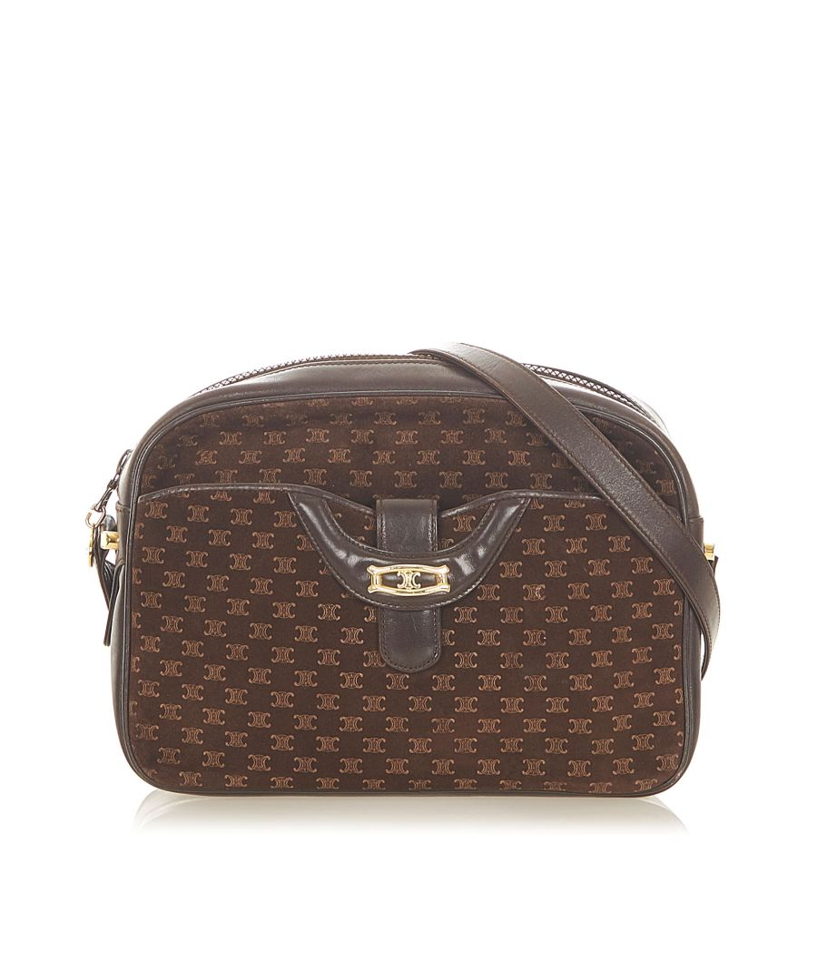 Image for Vintage Celine Macadam Crossbody Bag Brown