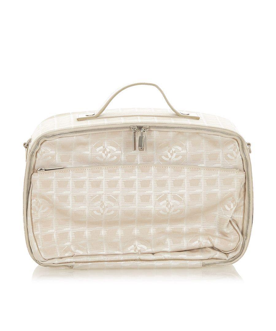 Image for Vintage Chanel New Travel Line Travel Bag Brown