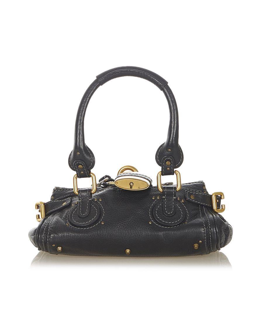 Image for Vintage Chloe Paddington Leather Handbag Black