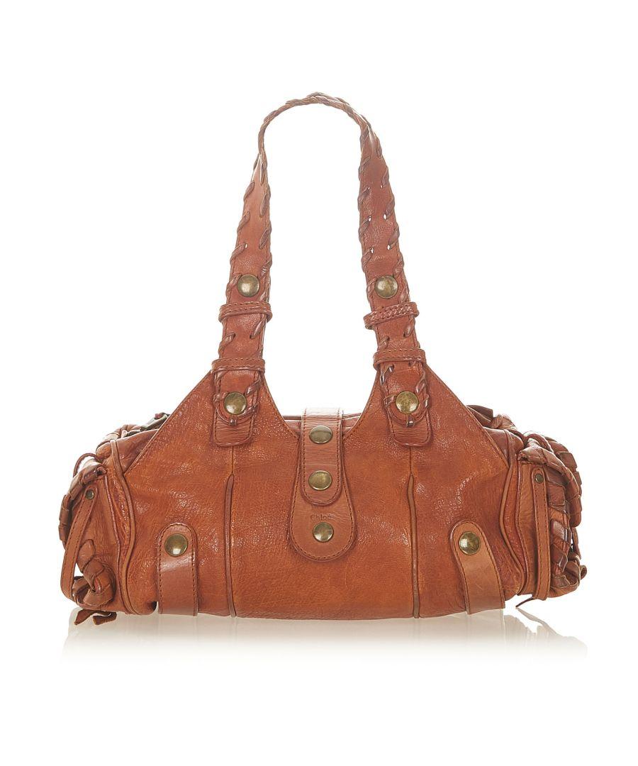 Image for Vintage Chloe Silverado Leather Shoulder Bag Brown