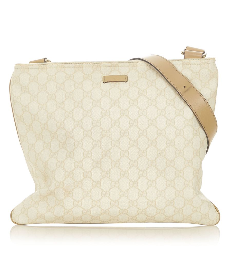 Image for Vintage Gucci GG Supreme Crossbody Bag White