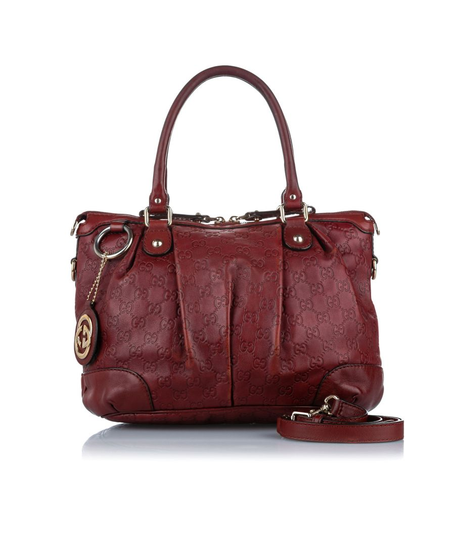 Image for Vintage Gucci Guccissima Sukey Satchel Red