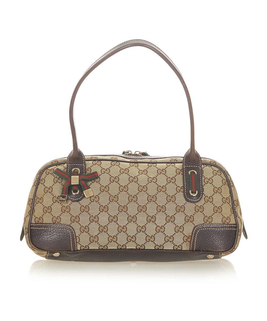 Image for Vintage Gucci GG Canvas Princy Handbag Brown