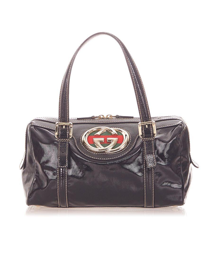 Image for Vintage Gucci Dialux Britt Boston Bag Black