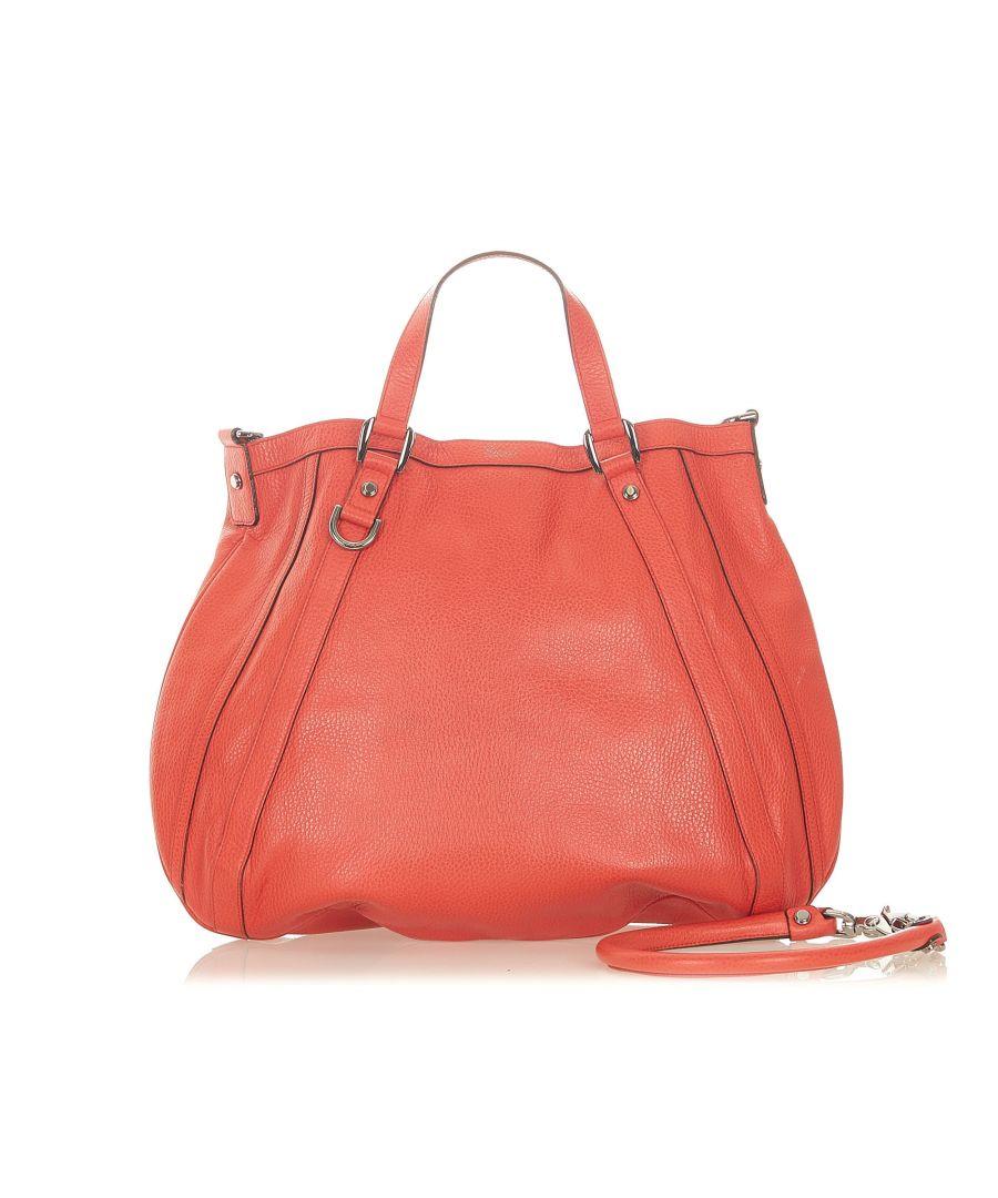 Image for Vintage Gucci Abbey Leather Satchel Orange