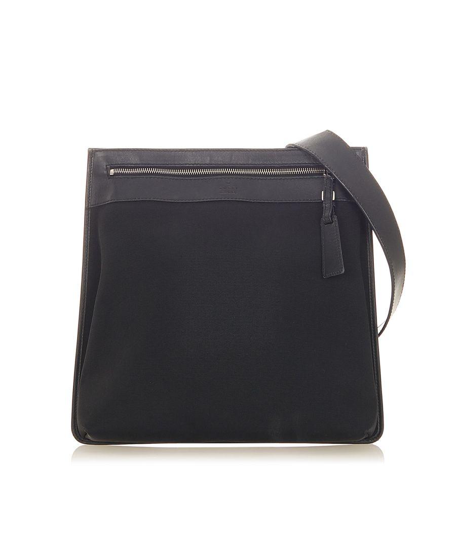 Image for Vintage Gucci Nylon Crossbody Bag Black