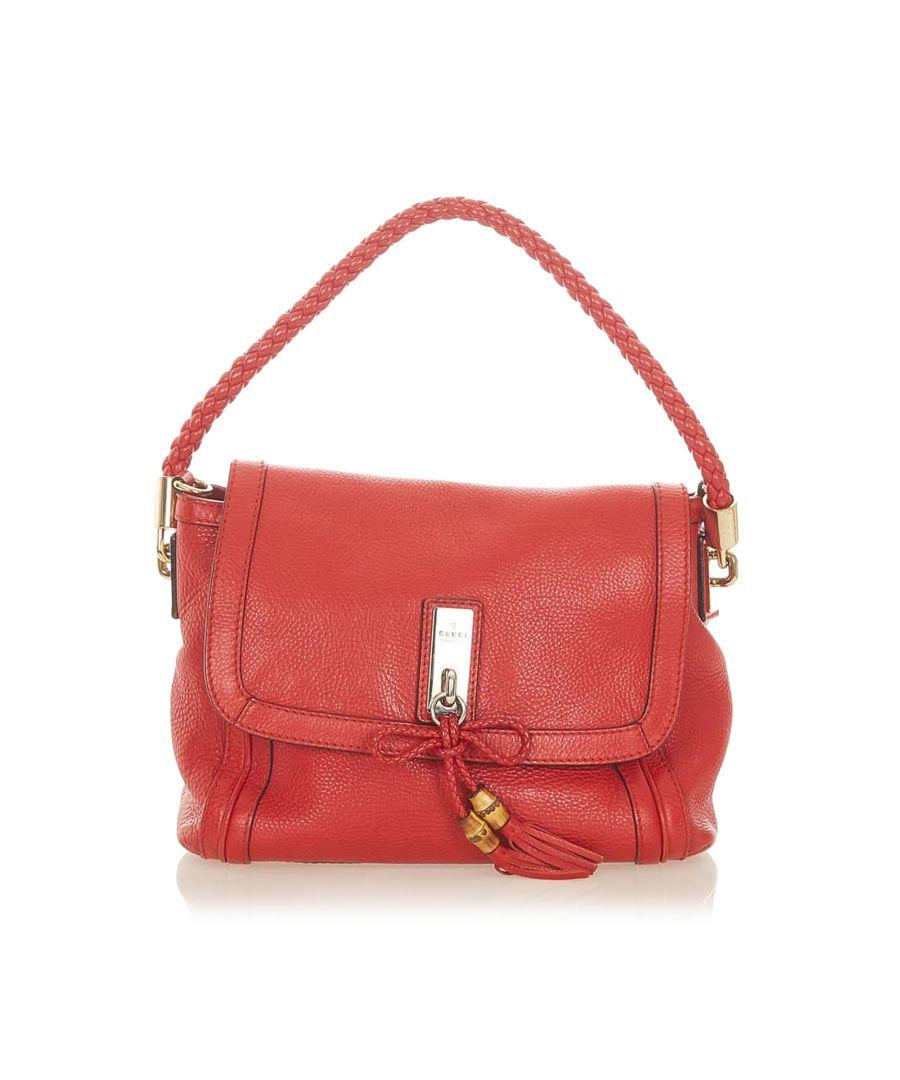 Image for Vintage Gucci Bella Leather Satchel Red