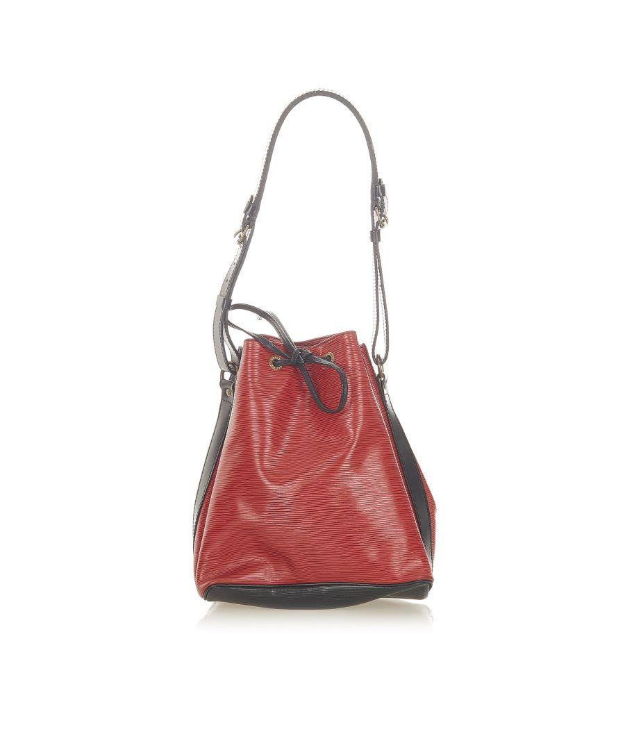 Image for Vintage Louis Vuitton Epi Neonoe Red