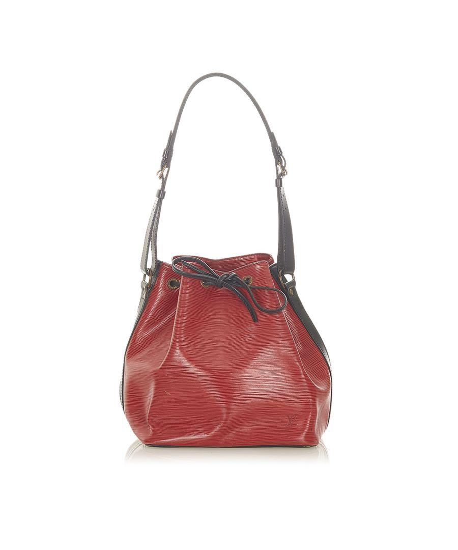 Image for Vintage Louis Vuitton Epi Bicolor Petit Noe Red