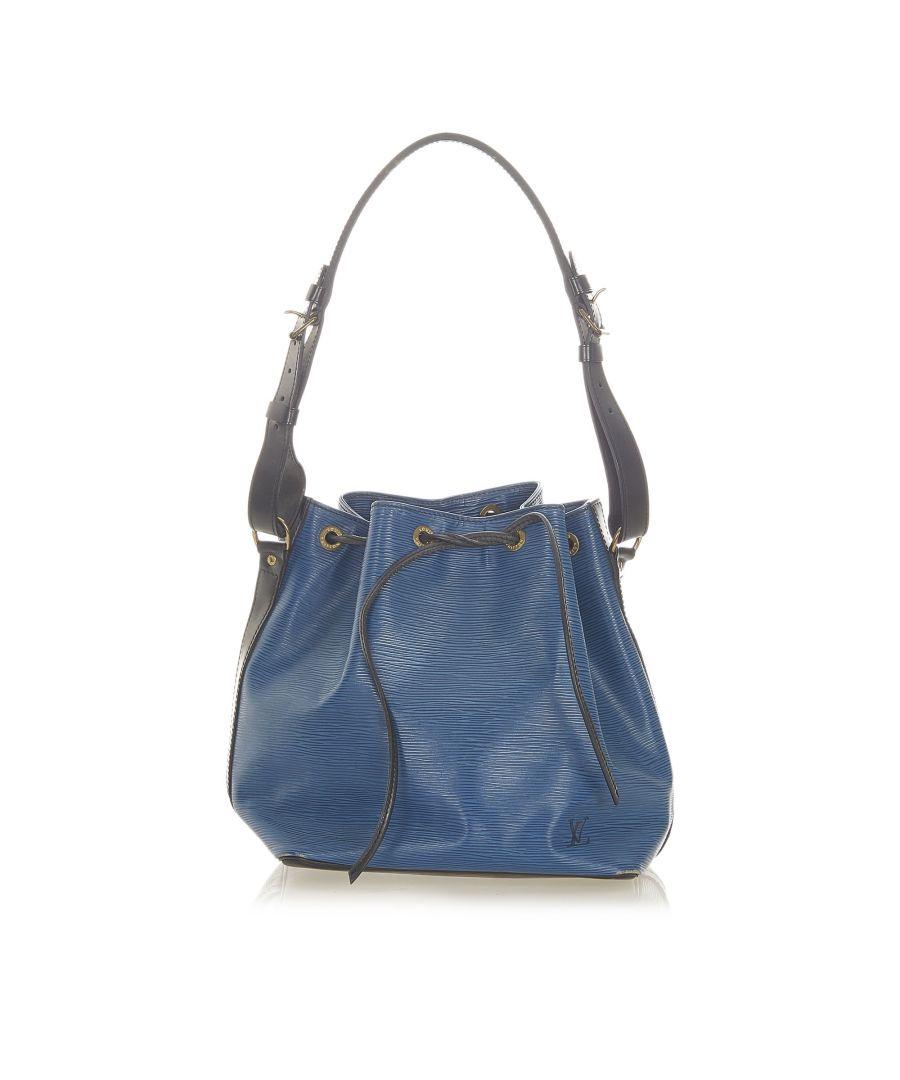 Image for Vintage Louis Vuitton Epi Bicolor Petit Noe Blue