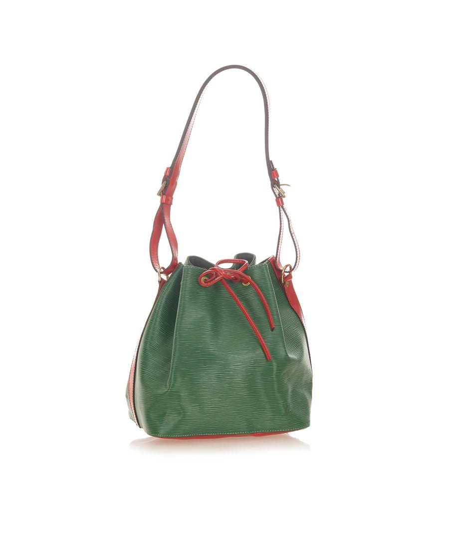 Image for Vintage Louis Vuitton Epi Bicolor Petit Noe Green