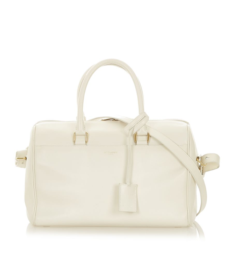 Image for Vintage YSL Classic Baby Duffle Leather Satchel White