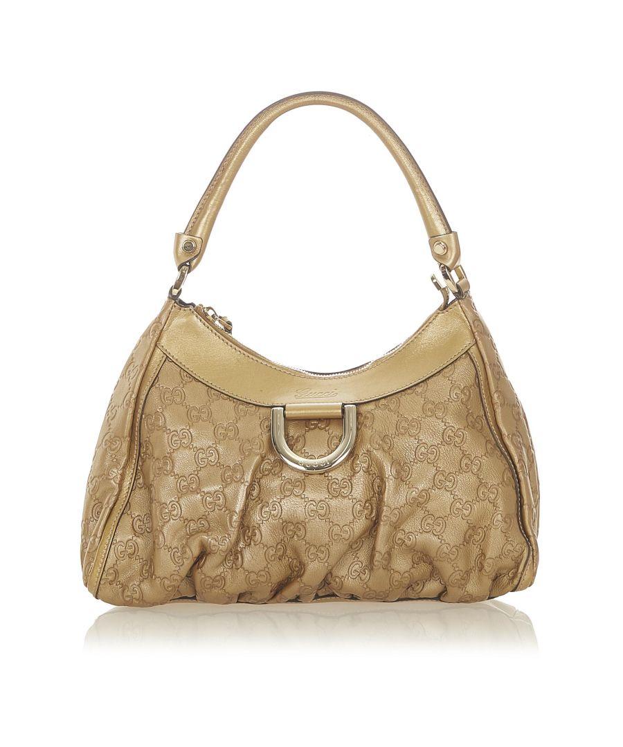 Image for Vintage Gucci Guccissima Abbey D-Ring Shoulder Bag Gold