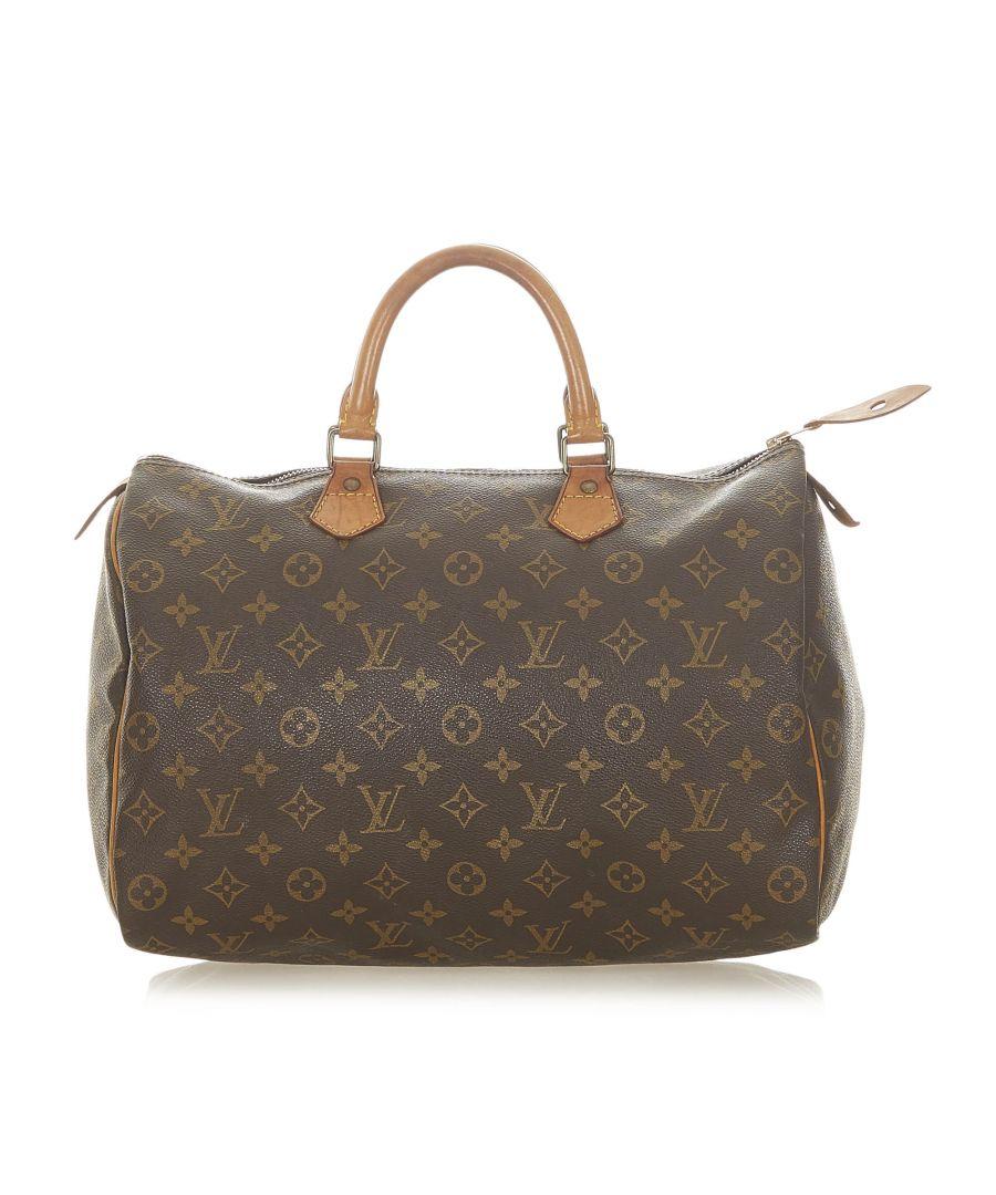 Image for Vintage Louis Vuitton Monogram Speedy 35 Brown
