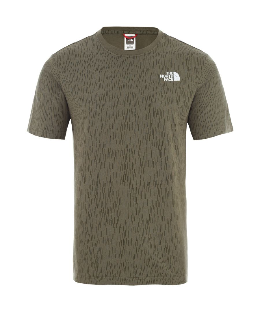 Image for The North Face Men's Redbox Tee, Burnt Olive/Green Rain Camo