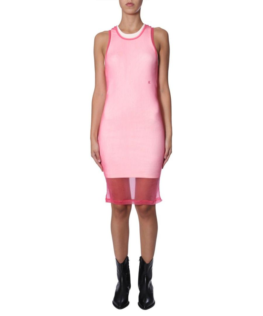 Image for HELMUT LANG WOMEN'S J06DW602YJW PINK COTTON DRESS