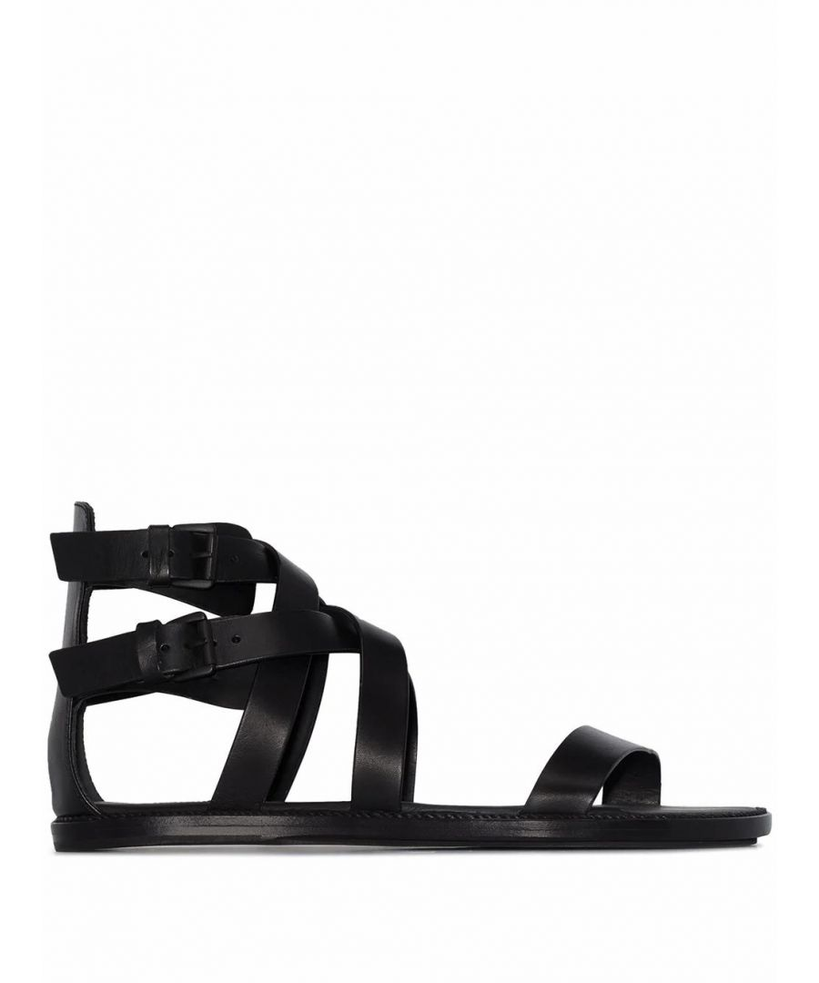 Image for ANN DEMEULEMEESTER WOMEN'S 20012826P390099 BLACK LEATHER SANDALS