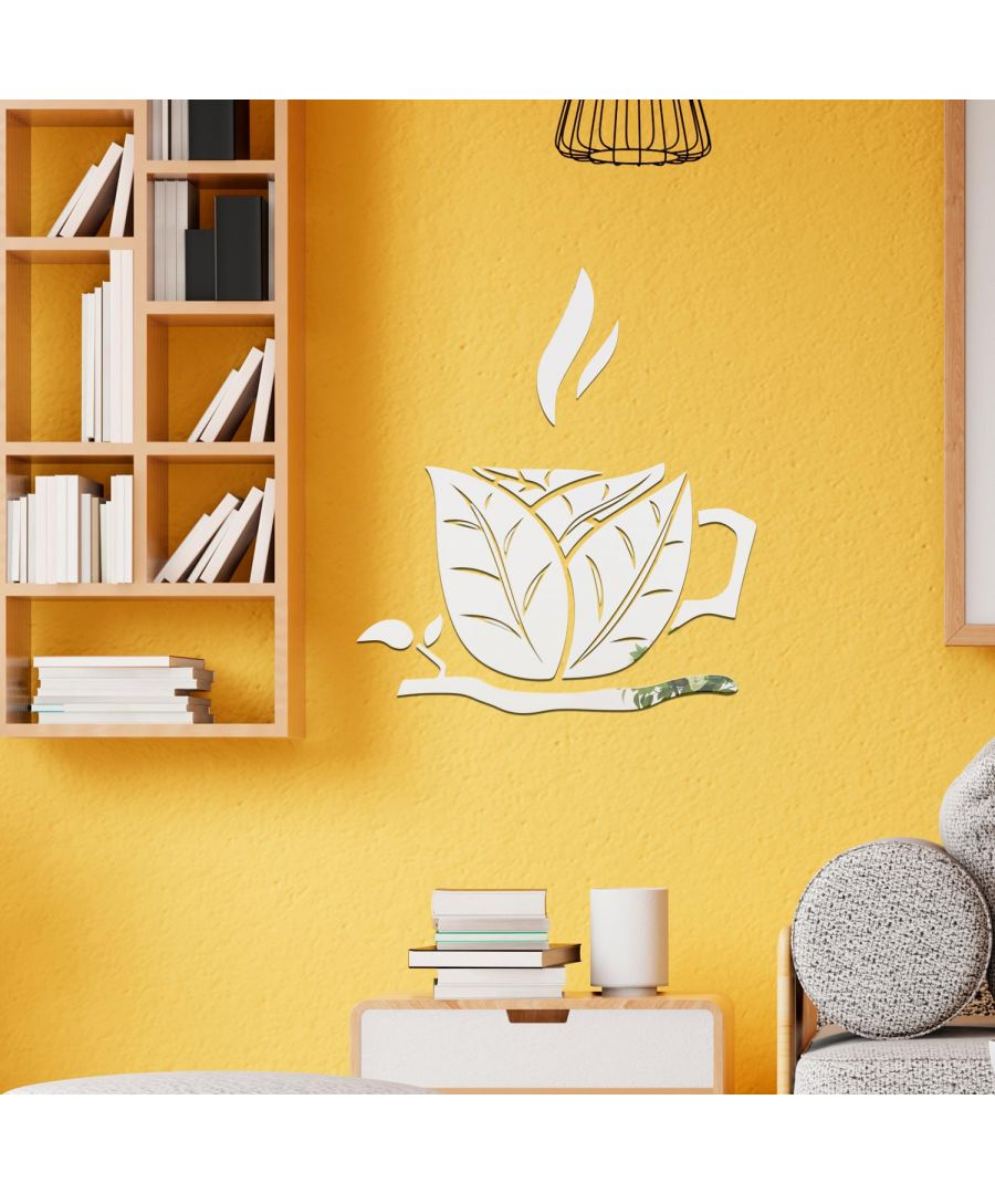 Image for Coffee Cup Mirror Wall Art  Self Adhesive DIY Wall Art, Wall Art Living Room, Mirror Wall Art