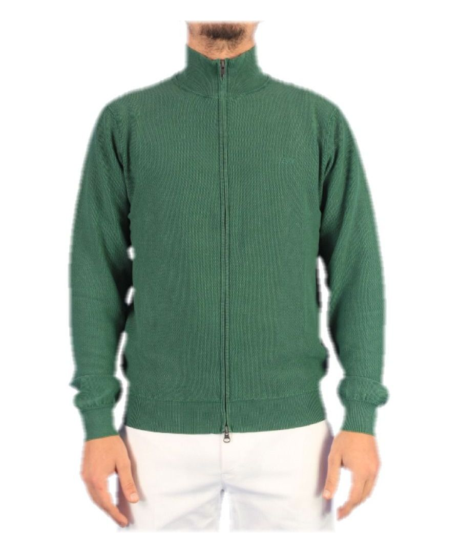 Image for SUN 68 MEN'S K3011088 GREEN COTTON CARDIGAN