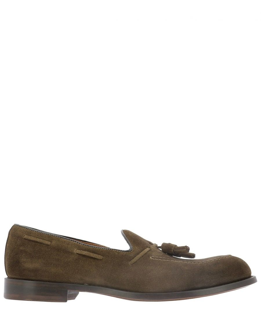Image for DOUCAL'S MEN'S DU2358MILEUF068MC02 BROWN SUEDE LOAFERS